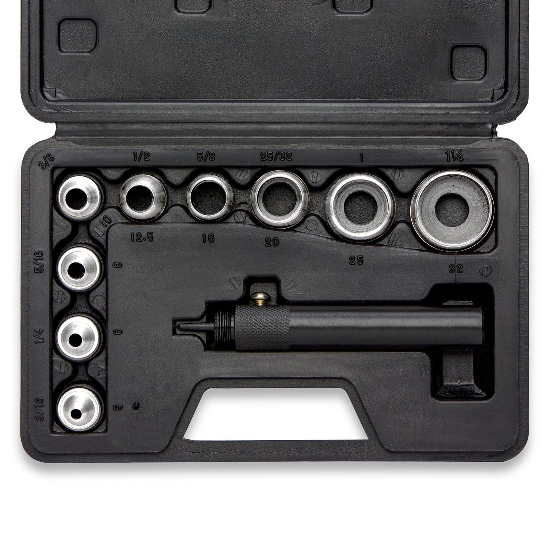 Neiko 02614A Interchangable Hollow Hole Punch Set with Handle, Heavy Duty with Handle Case, 10-Piece Large Set Ridgerock Tools Inc.