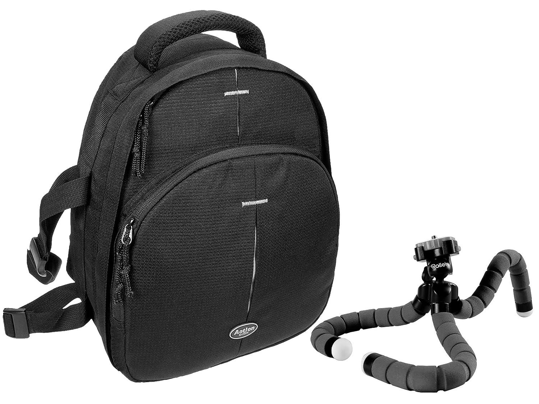 旅行三脚Rollei猿とカメラバッグコンパクトアクションブラックセット B074CB1N9J