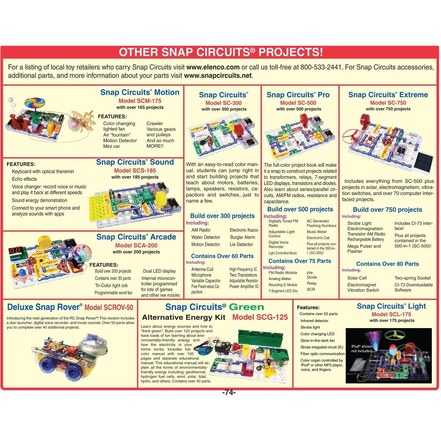 Snap Circuits Arcade Electronics Discovery Kit Steam Simple Light Organ Circuit Diagram Project With Effects Stem Concepts 200 Projects Toys Games