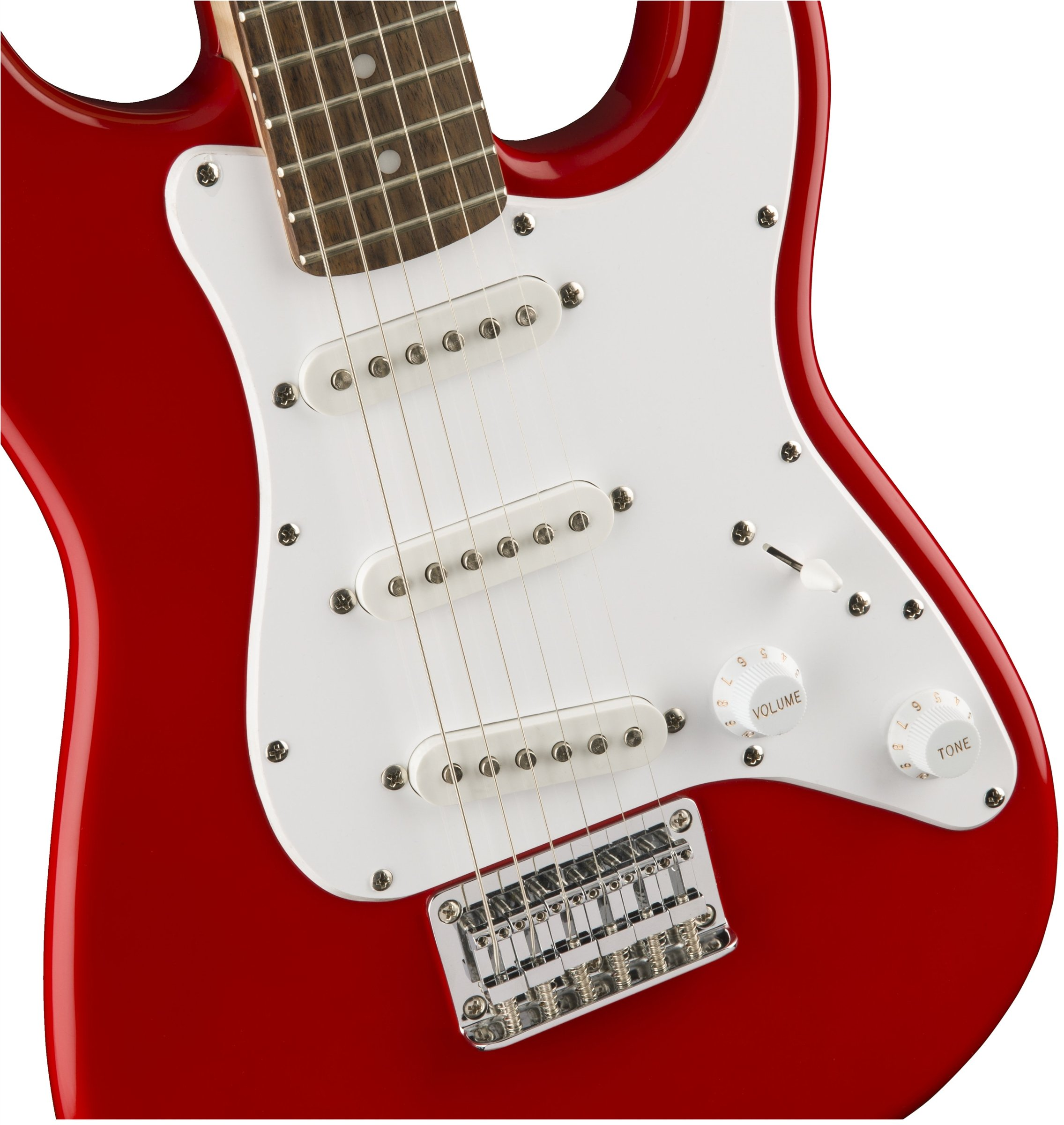 Squier by Fender Mini Stratocaster Beginner Electric Guitar - Indian Laurel Fingerboard - Torino Red by Fender (Image #3)