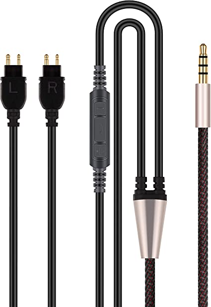 HD660S HD600 Massdrop HD6XX Headphones HD580 NewFantasia Cable Compatible with Sennheiser HD650 Remote Volume Control Mic Compatible with Samsung Galaxy Sony Xiaomi Huawei Android Phone