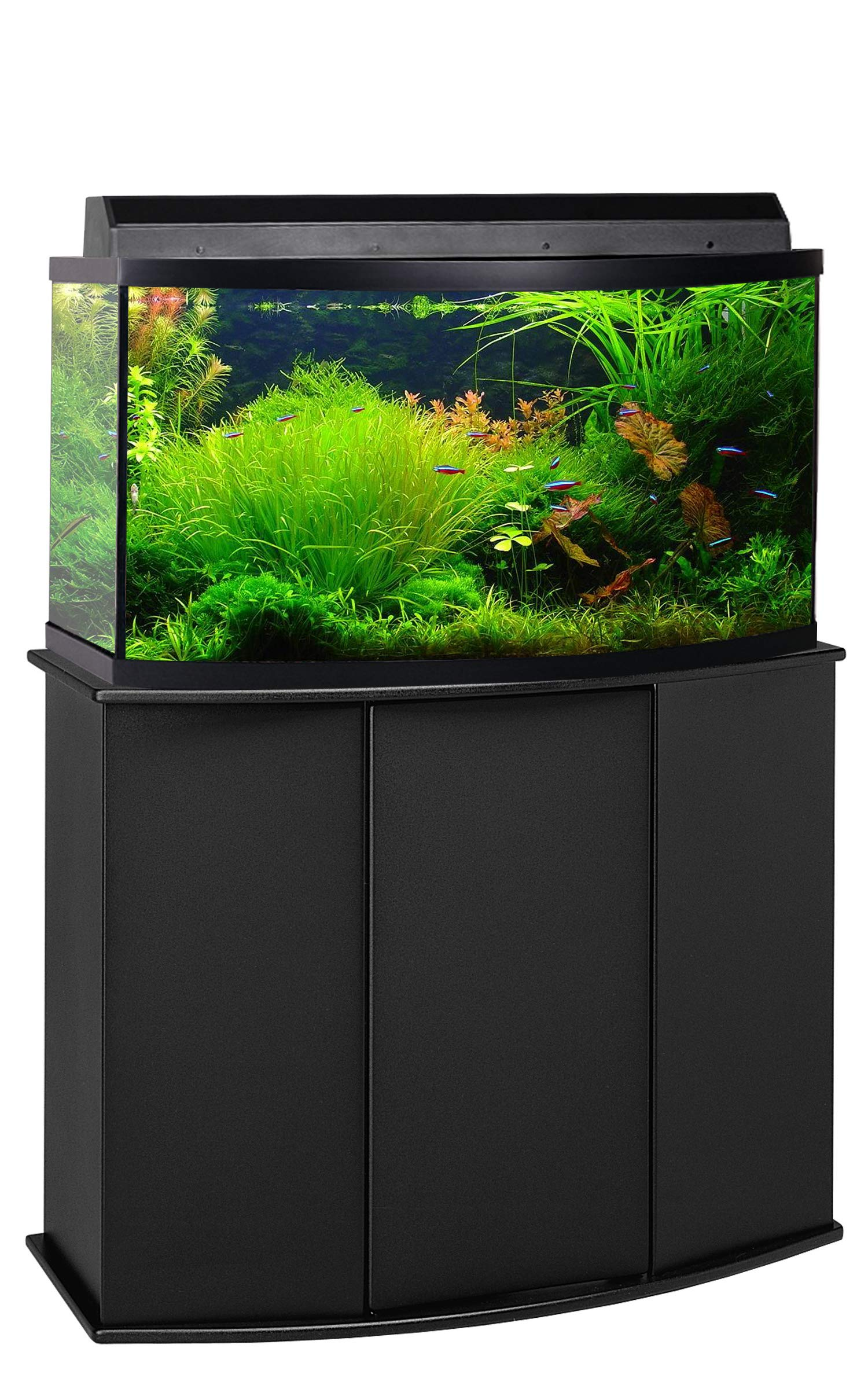 Aquatic Fundamentals Aquarium Stand, Bow Front, Black by Aquatic Fundamentals