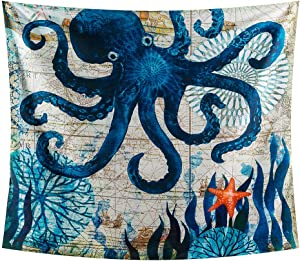 INTHouse Octopus Tapestry Wall Hanging...
