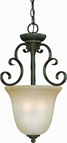 Craftmade 24223-MB-WG Barrett Place Scrollwork Foyer Pendant, 3-Light 180 Watts 13 W x 21 H , Mocha Bronze