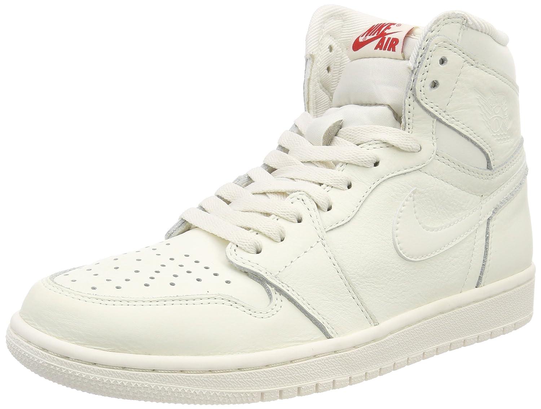 Sail, university red Nike - AIR JORDAN 1 MID