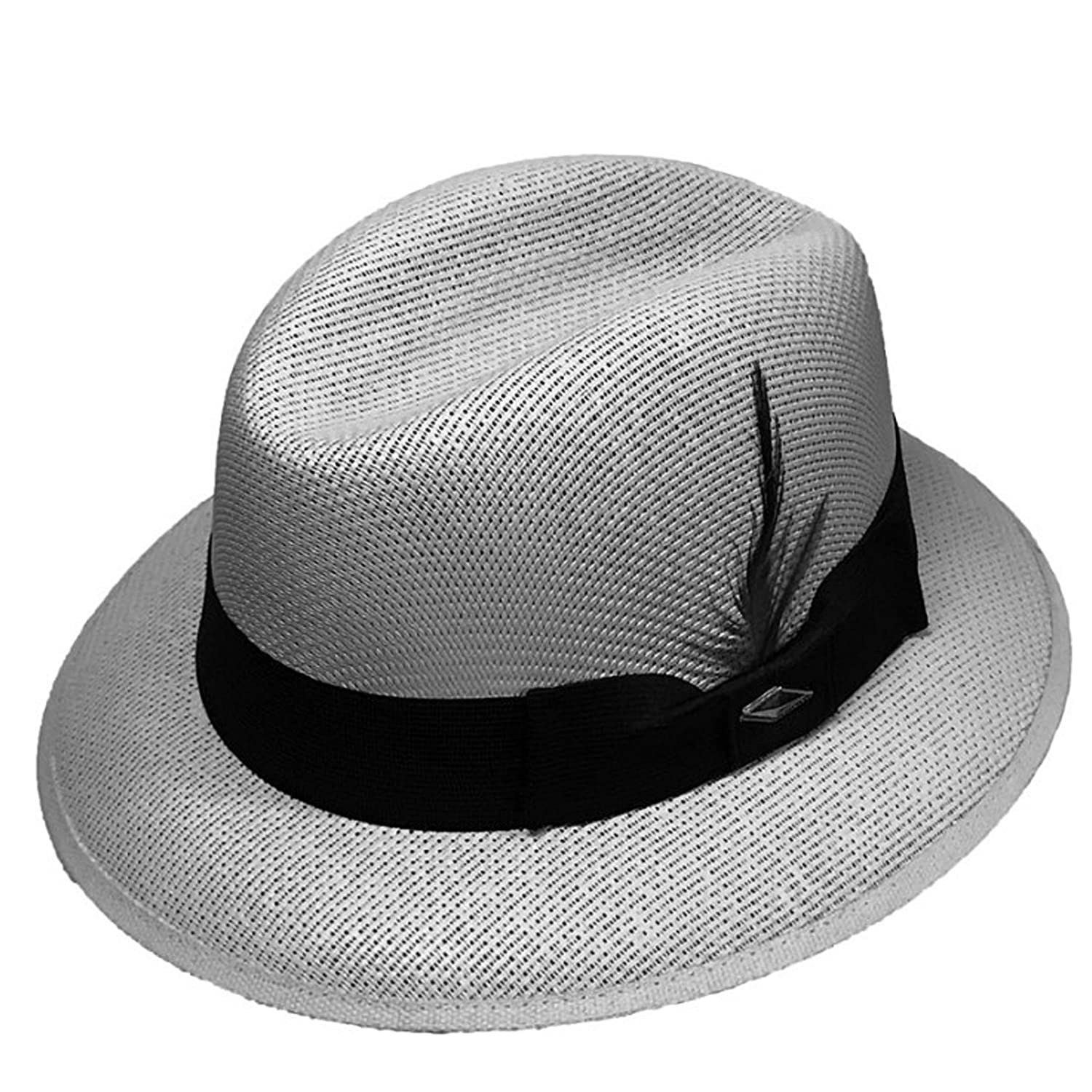 Gray Pachuco Lowrider Fedora Style Brim Hat Grey at Amazon Men s Clothing  store  f1d7c19d71c