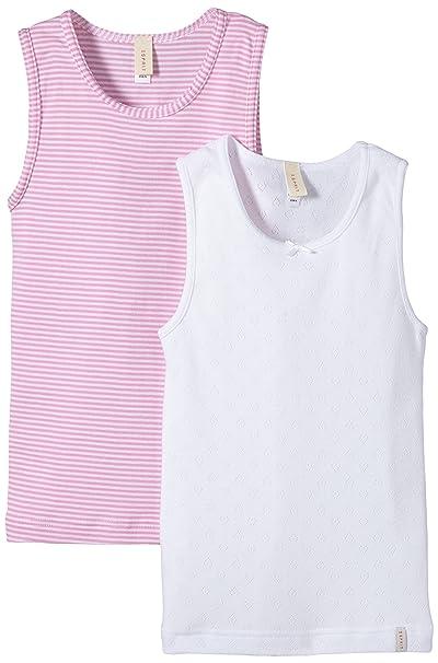 Esprit Bodywear Cute Mini Stripe - Camiseta Tirantes para niñas, Color Blanco, Talla 4