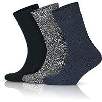 GoWith 3'lü Norveç Tipi Yünlü Tam Havlulu Güçlendirilmiş Ön Yıkamalı Kışlık Erkek Çorap Seti 6042