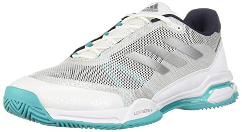 best sneakers ed752 adcb0 adidas Mens Barricade Club Tennis Shoes, Legend InkMatte SilverFootwear  White,