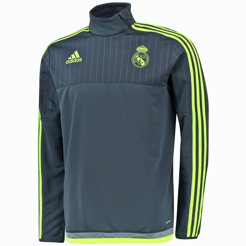 2015-2016 Real Madrid Adidas Training Top (Grey) B00ZK8QFF6 XL 44-46