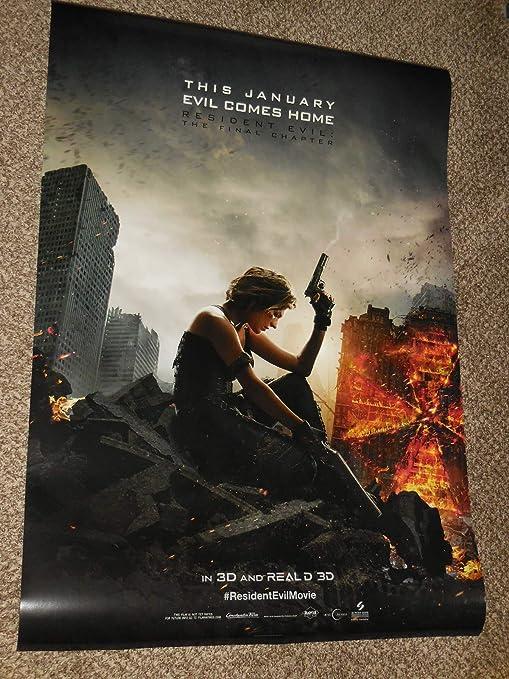 Amazon Com Resident Evil The Final Chapter E 27x40 Original D S