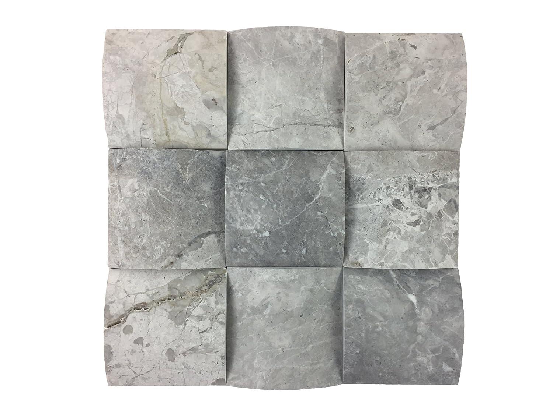 Attraktiv Naturstein Mosaik/Mosaikfliese Aus Marmor Als Wandstein/Steinwand/Verblendstein  | Wandverkleidung Für Bad, Küche, Diele Oder Wohnzimmer Aus Naturstein I 9  ...