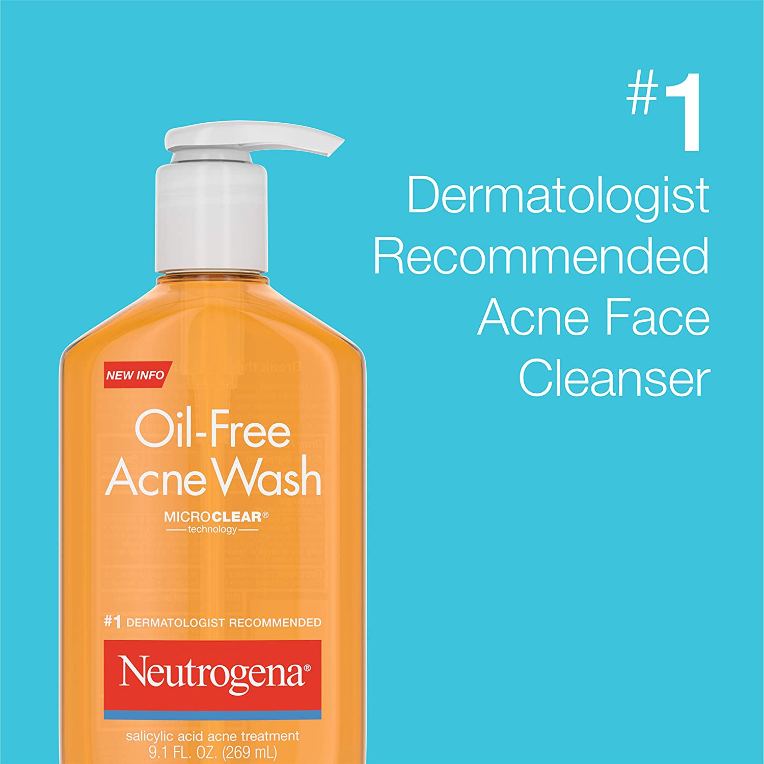Amazon Com Neutrogena Oil Free Acne Fighting Facial Cleanser With