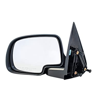 Driver Side Non-Heated Manual Operated Mirror for Cadillac Escalade Chevy Silverado Suburban HD Tahoe GMC Sierra Yukon XL 1500 2500 3500 1999-2007 - Parts Link #: GM1320230: Automotive