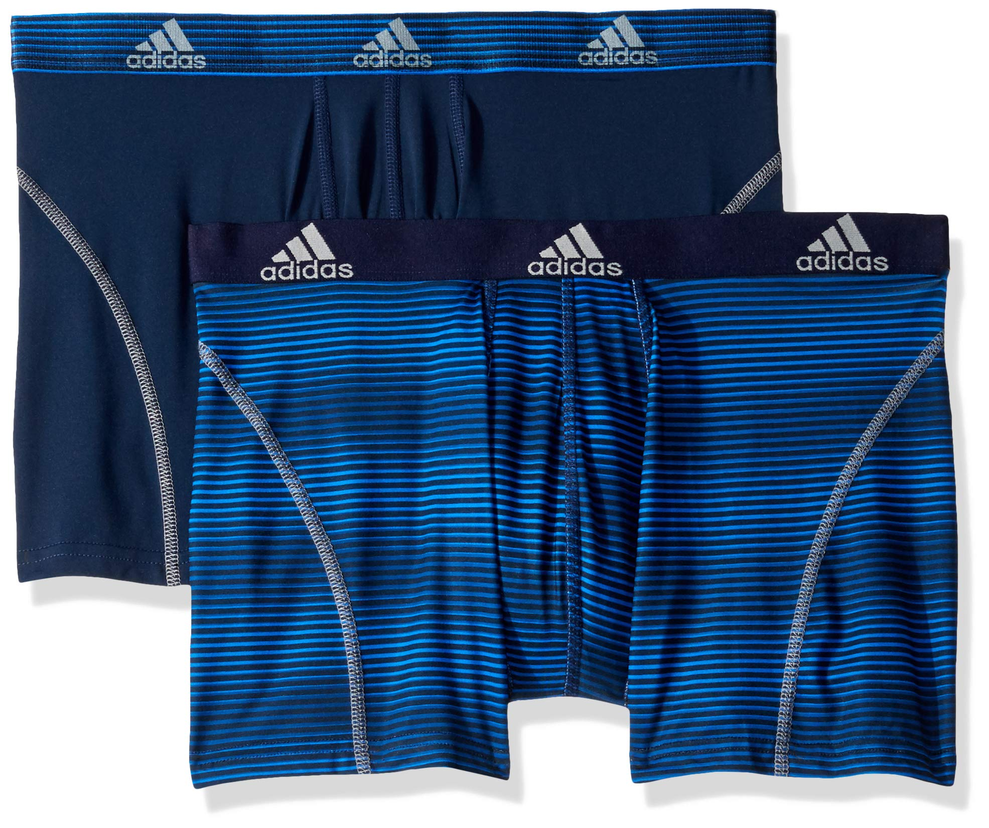 adidas Men's Sport Performance Trunk Underwear (2-Pack), Sundown Collegiate Navy Collegiate Navy/Grey, LARGE by adidas