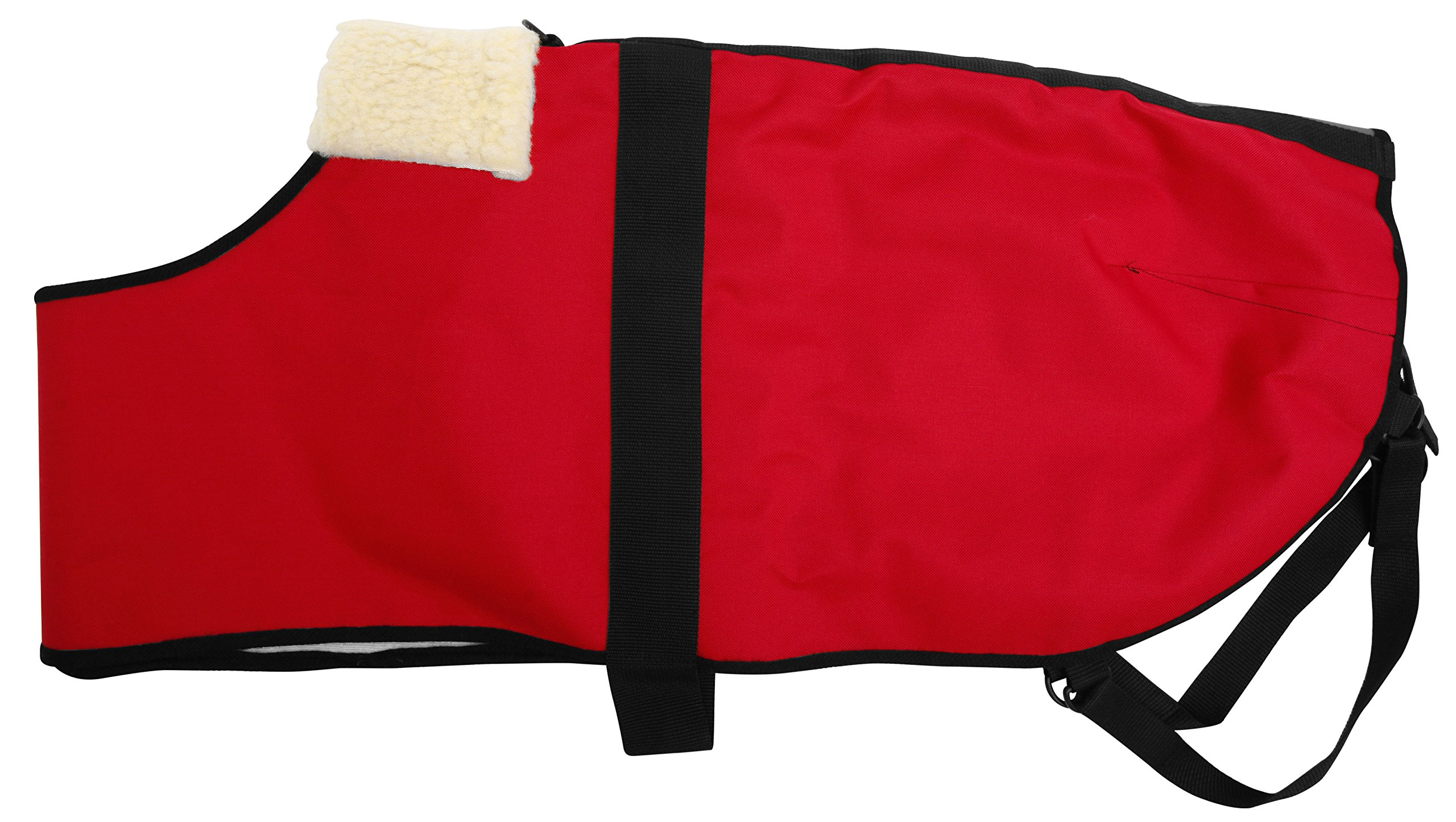 All Seasons Sherpa Coat Vest for Dogs with Velcro Strap for Large Dogs (Large - Red) by All Seasons Products, Inc. (Image #2)