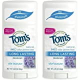 Tom's of Maine Natural Long-Lasting Deodorant Stick Lavender 2.25 Oz (Pack of 2)