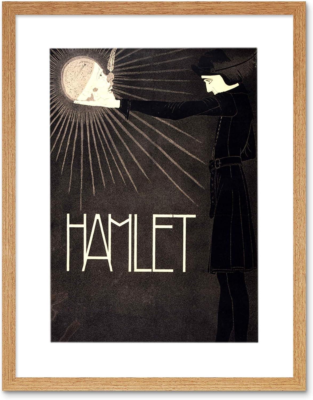 Theatre Stage Play Shakespeare Hamlet Keene 12X16 Inch Framed Art Print