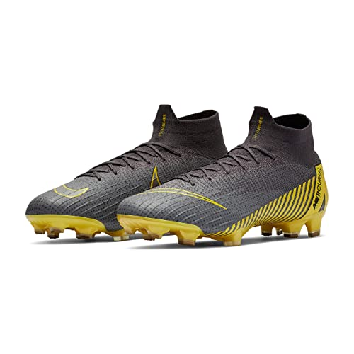 b8d5a298a Nike Unisex Adults Mercurial Superfly 6 Elite FG Soccer Cleats Grey Yellow  AH7365 070 (7.5