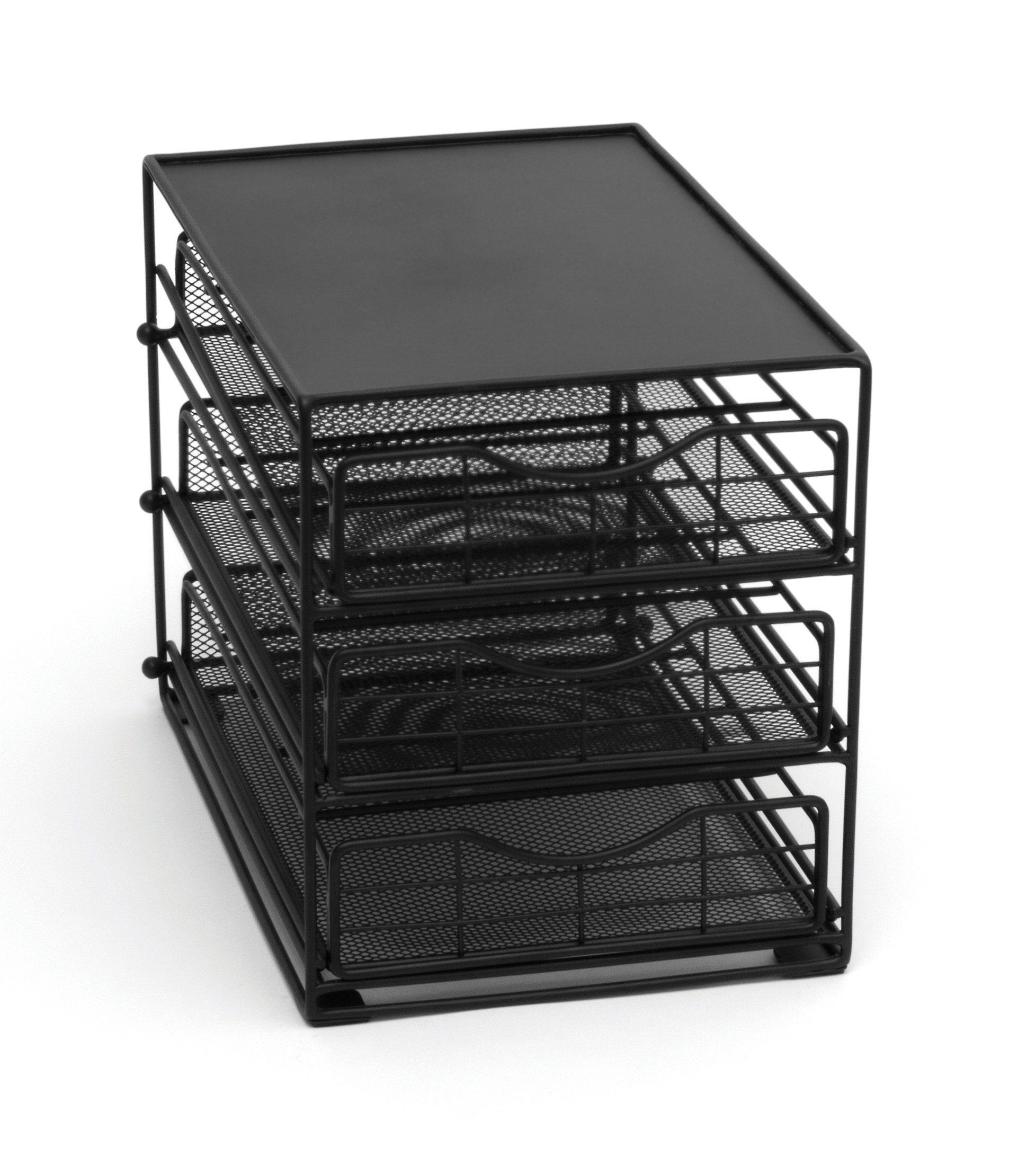Lipper International 8670 In-Cabinet Coffee Pod Drawer, 3-Tier, 45-Pod Capacity, Black