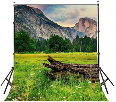 FUERMOR Mountain Landscape Backdrop Outdoor Andes Rainbow Mountain Photography Background Photo Studio Props 7x5ft BJQQFU116