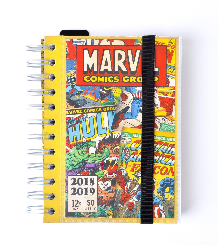 Grupo Erik Editores Marvel- Agenda escolar 2018-2019 día página multilingüe, 11.4 x 16 cm ADPWI1804