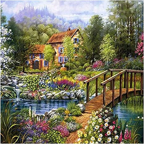 Round Drill Landscape DIY 5D Diamond Painting Cross Stitch Embroidery Wall Gift