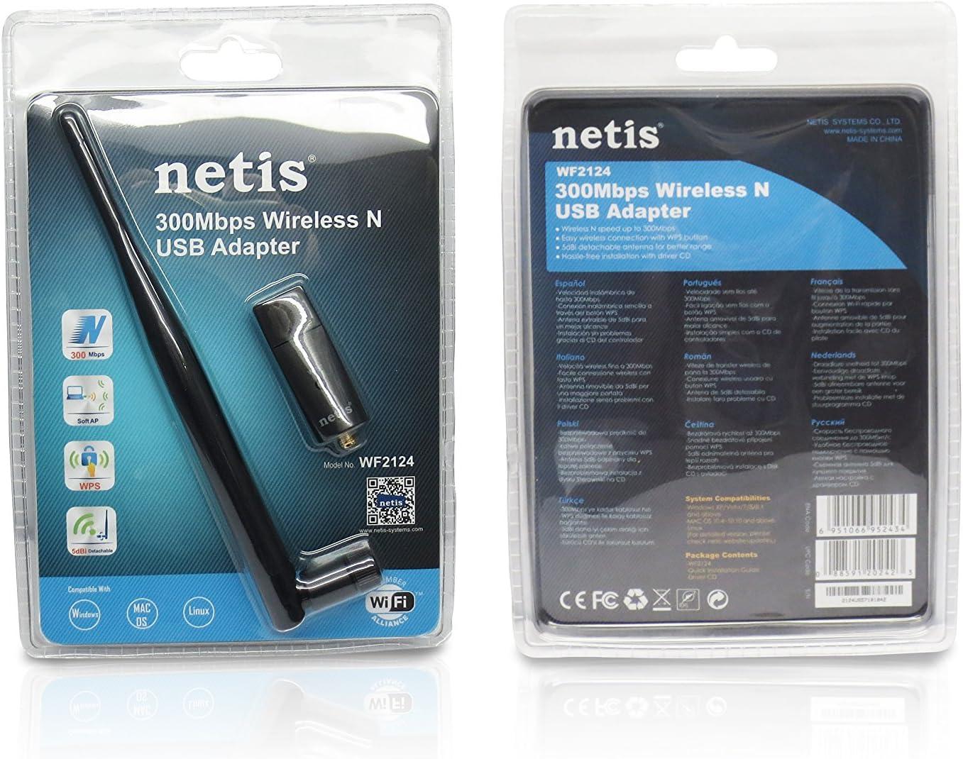 Netis WF2124 Wireless N300 Long-Range USB Adapter