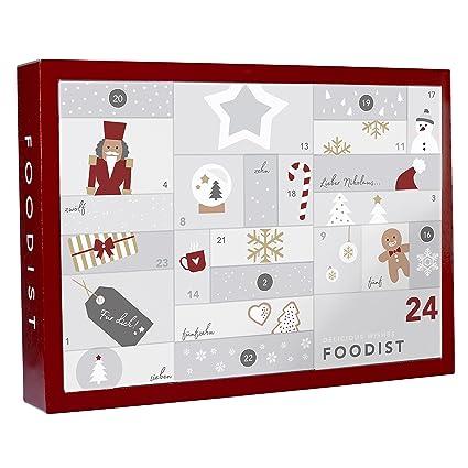 Foodist Weihnachtskalender.Foodist Gourmet Adventskalender Mit 24 Hochwertigen Süßigkeiten