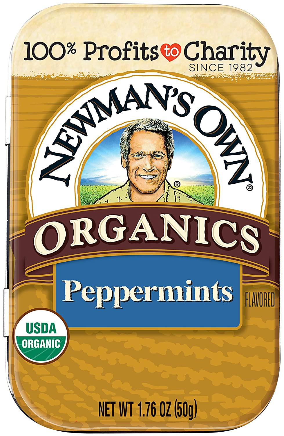 Newman's Own Organic Mints, Peppermint, 1.76-Oz. (Pack Of 6)