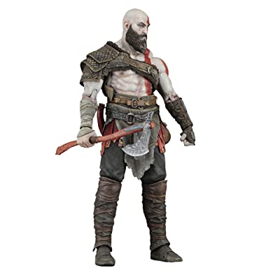 "NECA God of War (2020) - 7"" Scale Action Figure - Kratos: Toys & Games"