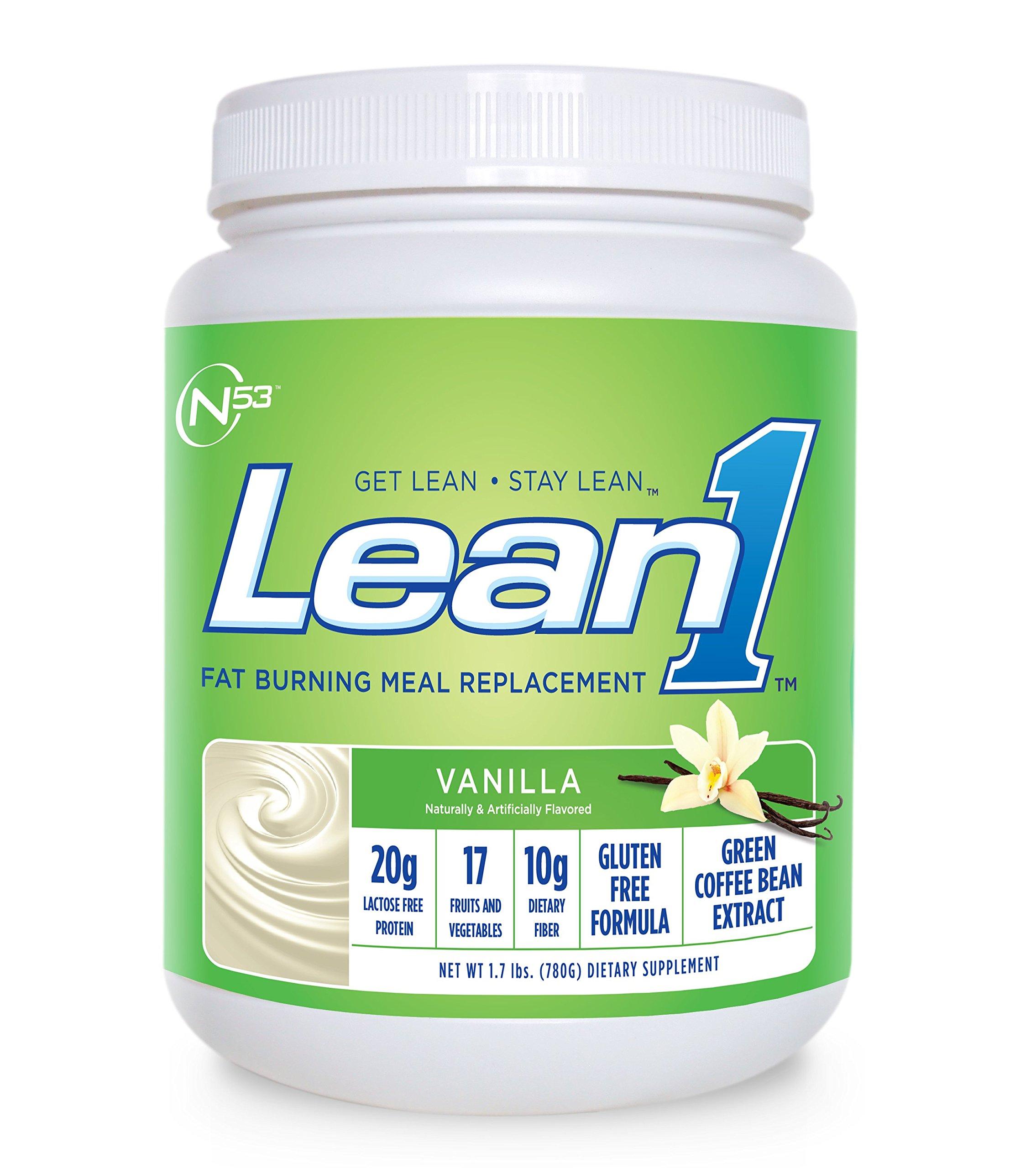 Nutrition 53 Lean 1 Vanilla, 15 Serving Tub-1.72 lbs by Nutrition 53