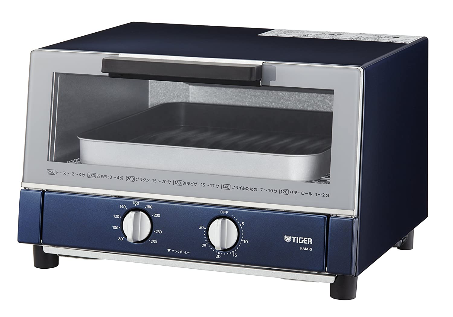 """TIGER Toaster Oven """"YAKITATE"""" KAM-G130-AN ( Navy )【Japan Domestic genuine products】"""