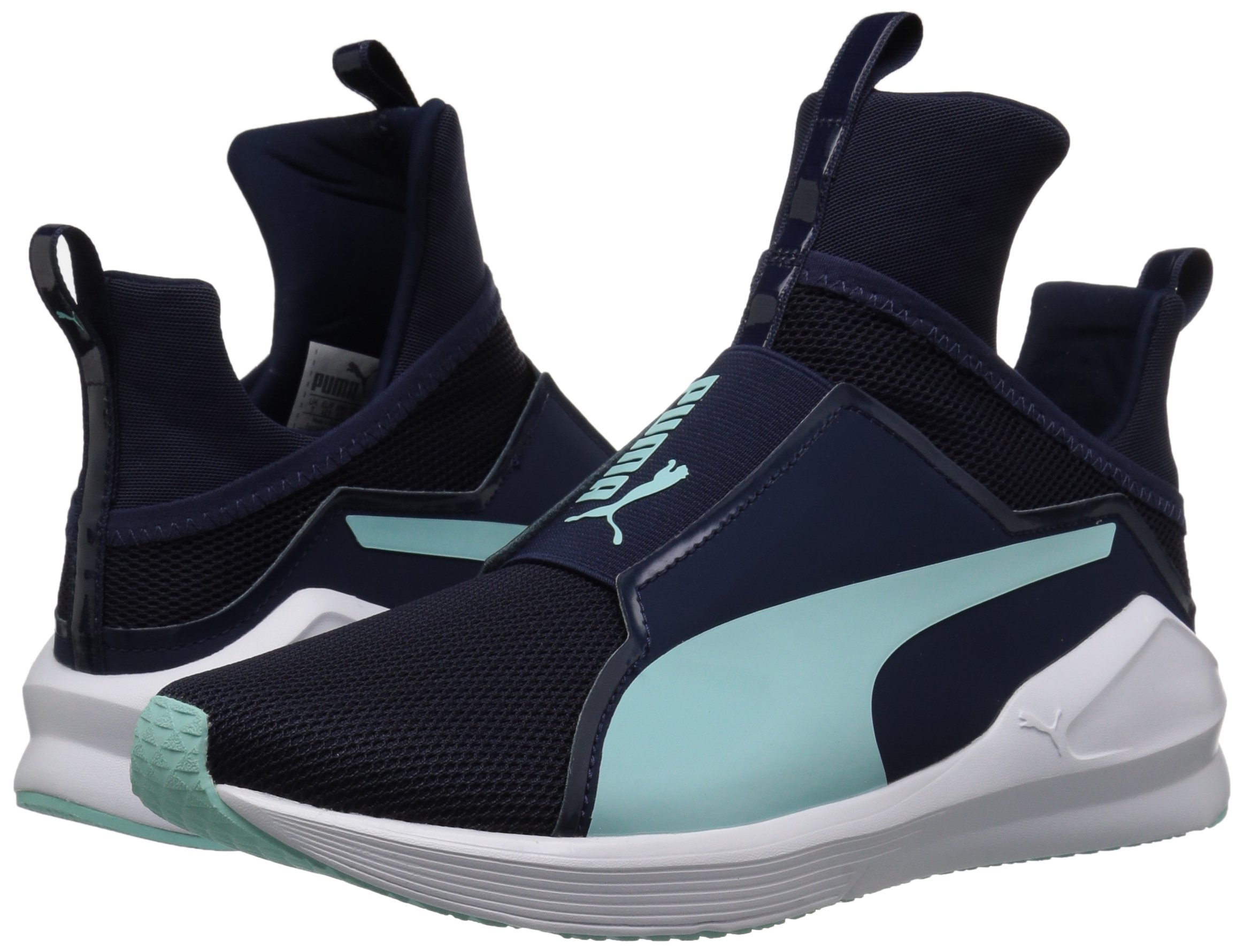 PUMA Women's Fierce Core Sneaker, Peacoat-Island Paradise, 9 M US by PUMA (Image #6)