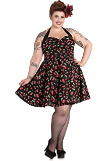 4921bc031e Hell Bunny Plus Rockabilly Charlie Dress in Leopard and Red Rose ...