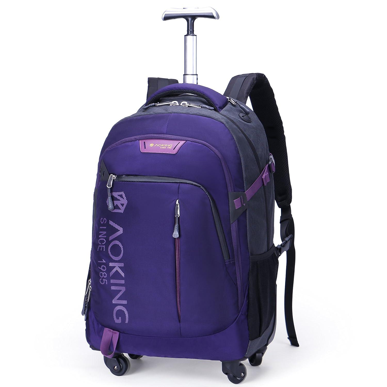 [Aoking] 3WAY キャリーバッグ リュック 軽量 旅行 大型 4 キャスター バッグ スーツ 通勤通学 B07BVR49SV L|パープル パープル L