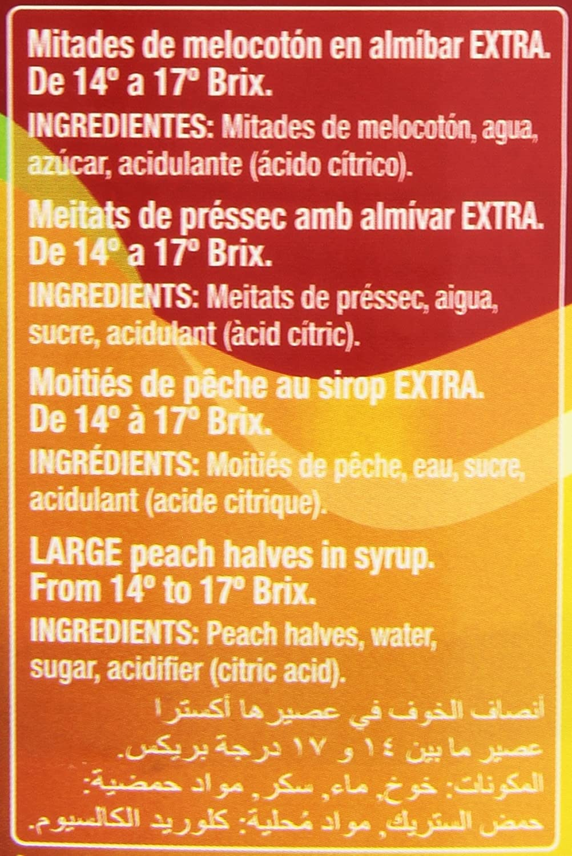 Gourmet Mitades de Melocotón en Almíbar Extra - 480 g: Amazon.es: Amazon Pantry