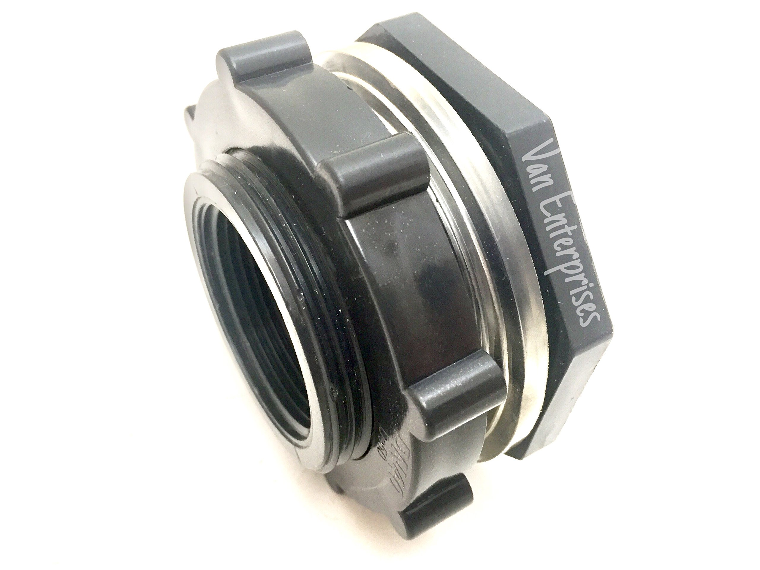 2'' PRO SERIES PVC Bulkhead Tank Fitting Adapter For Rain Barrels, Aquarium, Water Tanks, Ponds