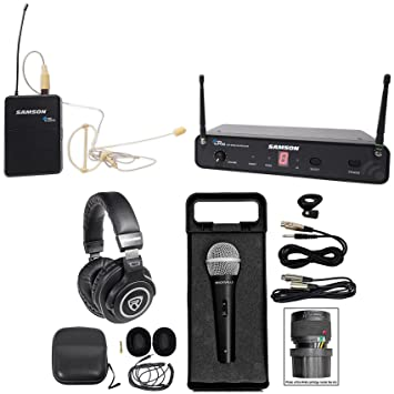 SAMSON Concert 88 Wireless 16-Ch. UHF - Auriculares de diadema (incluye micrófono