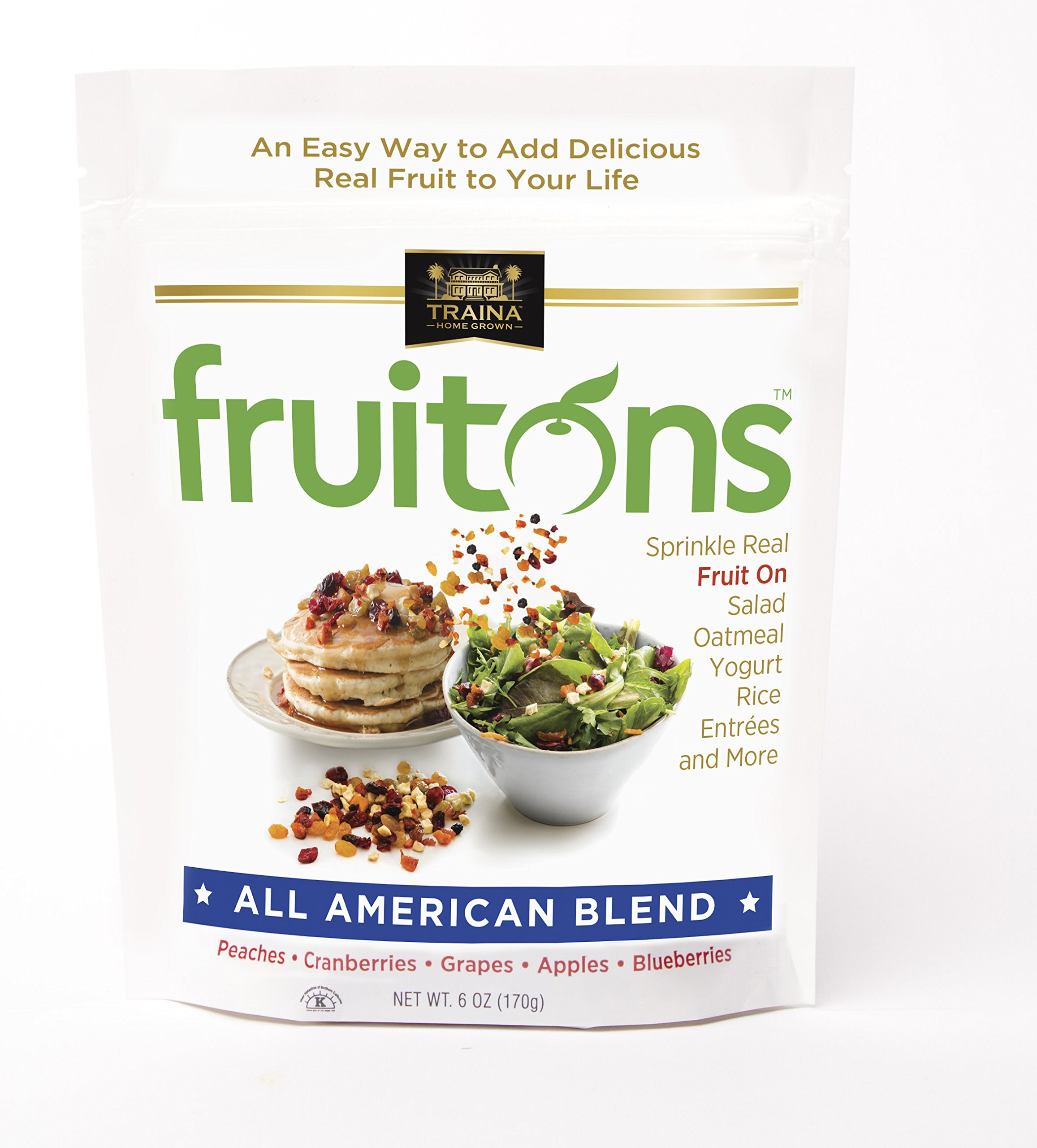 Traina Home Grown - All American Sun Dried Fruit Blend, 6 oz - 2 pack by Traina