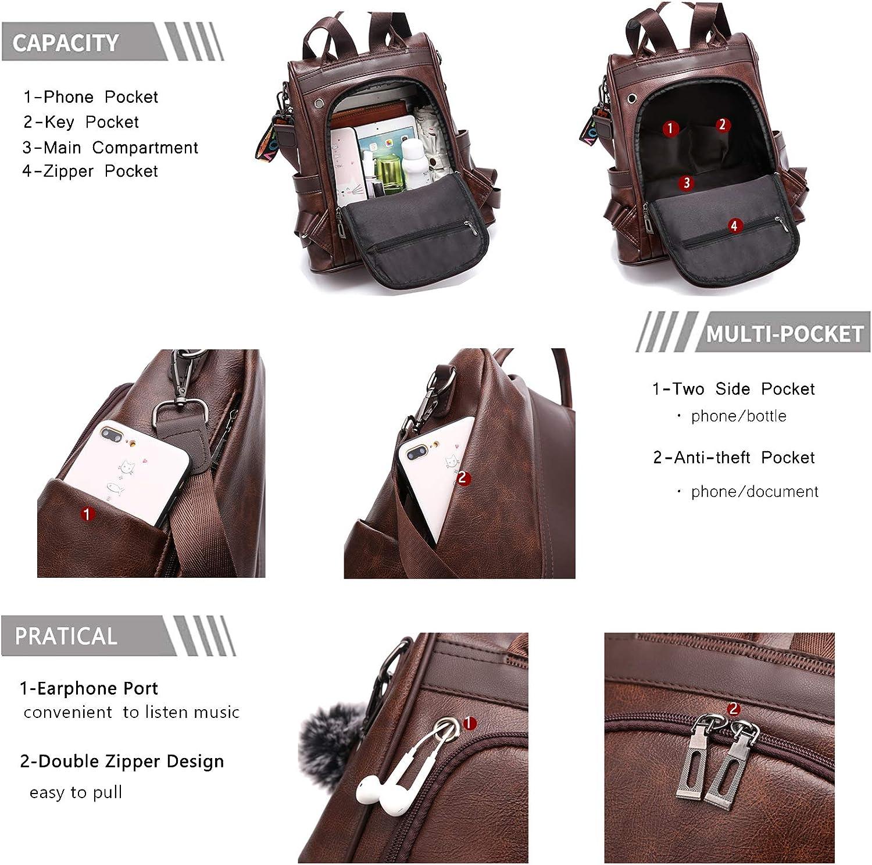 TcIFE sac /à dos sac /à main pour femmes mode /école sac /à main et sacs /à main sacs /à bandouli/ère en nylon anti-vol sac /à dos