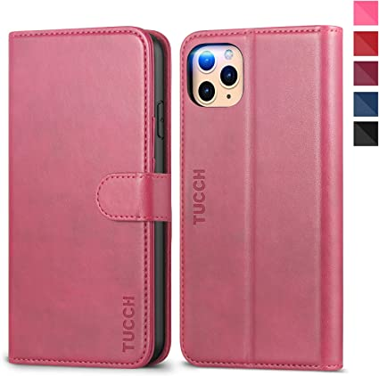 Tucch Iphone 11 Pro Max Case Iphone 11 Pro Max Wallet Case Pu Leather Flip Folio Cover With Card Slots Kickstand Rfid Blocking Compatible With