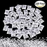 Desiccant Bags, 200 Pack x 1g Silica Gel Sachet Packet Moisture Damp Absorber Dehumidifier Mildew Odors
