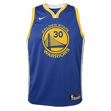 Nike - Camiseta de niños Golden State Warriors 2017-2018 Stephen Curry Icon  Edition  Amazon.es  Deportes y aire libre dc63f44bd09a0