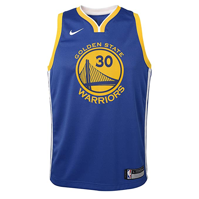 Nike - Camiseta de niños Golden State Warriors 2017-2018 Stephen Curry Icon Edition: Amazon.es: Deportes y aire libre