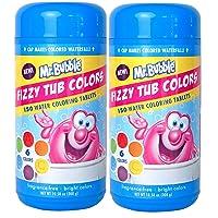 Mr. Bubble Fizzy Tub Colors, Assorted Bathwater Colors, 150 Ct - 2 Pack