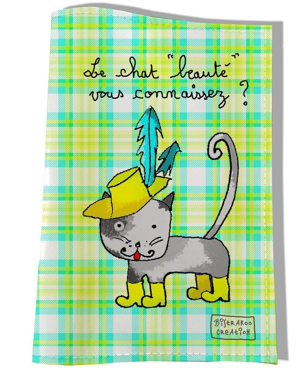 Protège carnet de santé pour chat, Coloris vert, réf. C2201 réf. C2201
