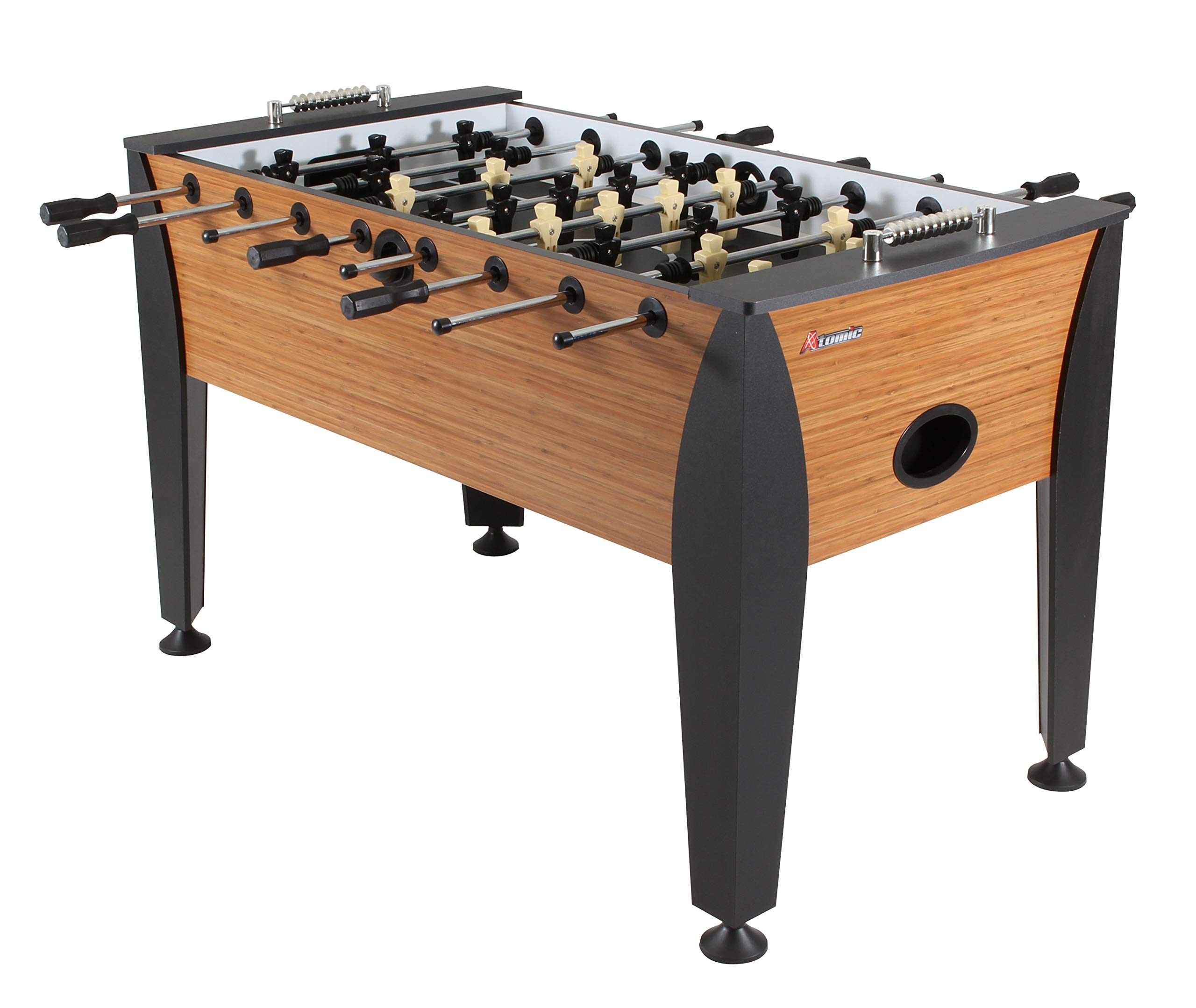 Atomic Pro Force 56'' Foosball Table with Internal Ball Return and Ball Entry, Leg Levelers, and Heavy-Duty Legs by Atomic
