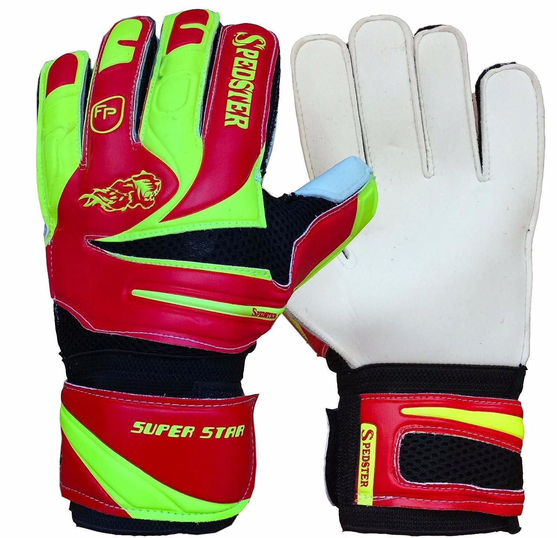 ゴールキーパーグローブ、Goalie Gloves、サッカー手袋、Spedster Superstarレッド/ Florescentイエロー B073WV1JHX 10