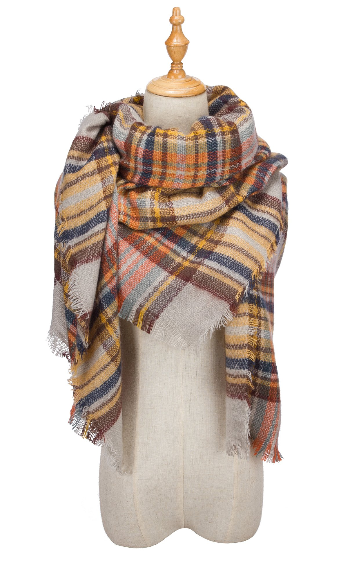 VIISHOW Fever Stylish Warm Blanket Scarf Gorgeous Wrap Shawl,L Beige,One Size
